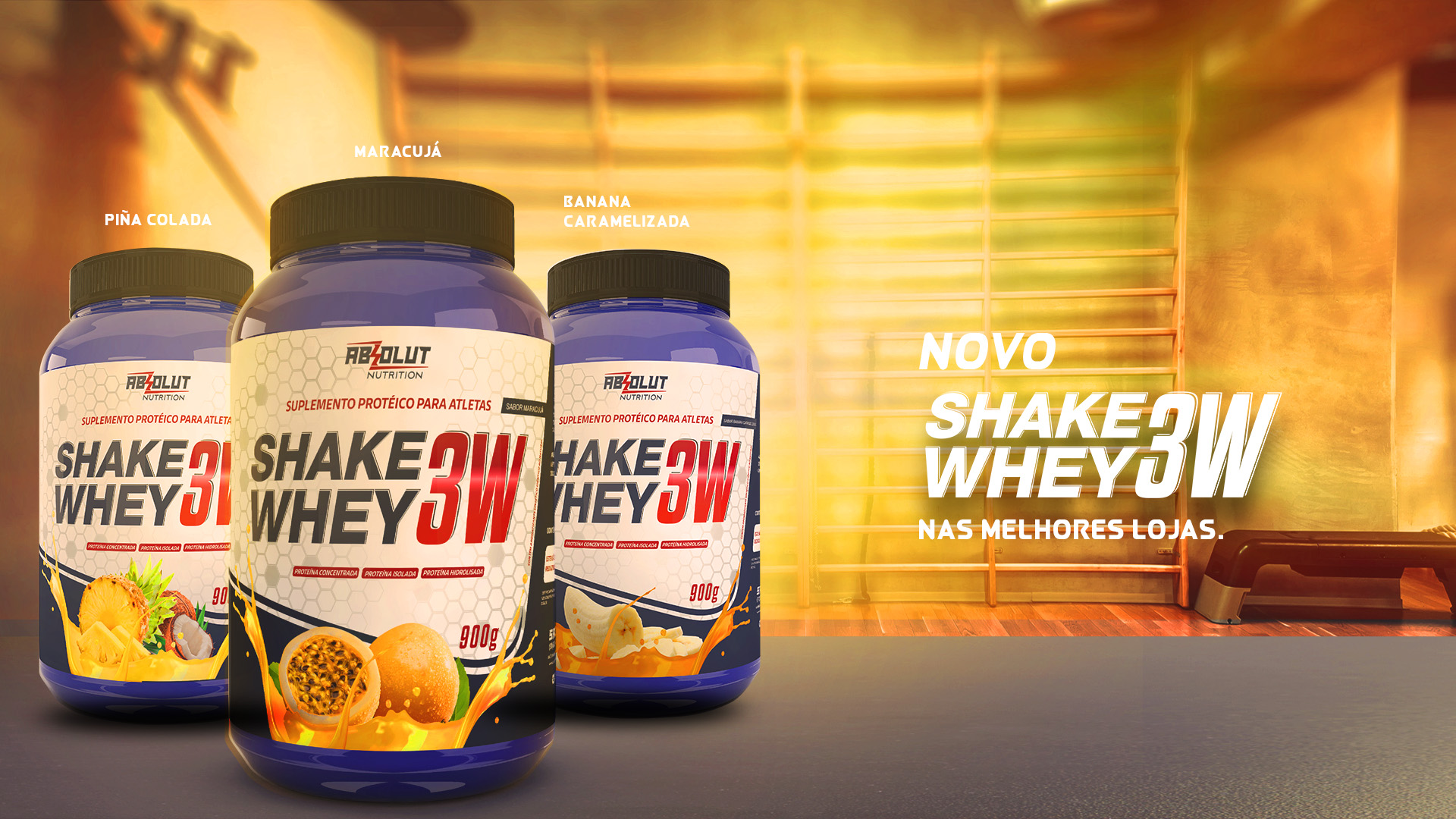 Novo WHEY 3W ABSOLUT NUTRITION